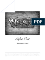 Minds Eye Theatre Werewolf the Apocalypse Alpha Slice Playtest Rules (6359790)