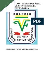 Cartel de Contenidos de 1ero a 5to - 2015