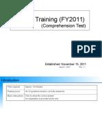 J-SOX Training FY11-12 Comprehension Test Rev1.1