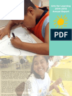 Arts for Learning's 2014-2015 Annual Report