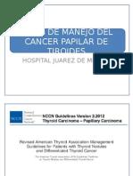 Guias de Manejo Del Cancer Papilar de Tiroides