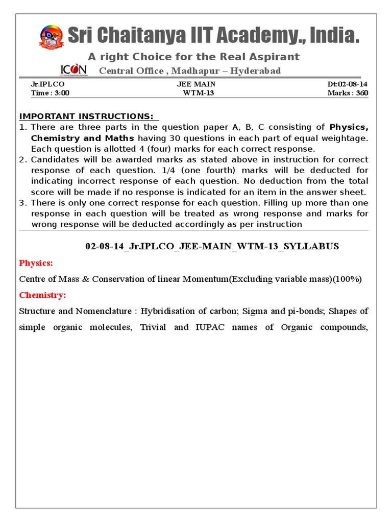 02-08-14_Jr IPLCO_JEE-MAIN_(2013)_WTM-13_Q'PAPER   Physical Sciences