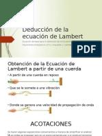 Deducción de La Ecuación de Lambert