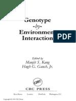 Manjit S. Kang, Hugh G. Gauch-Genotype -by- environment interaction.pdf
