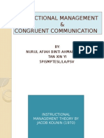 Instructional Management vs Congruent Communication