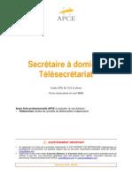 Fiche APCE Ser 28 - Secretaire a Domicile - Telesecretariat.31048