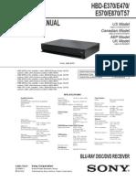 Diagrama de Blu-ray Sony HBD-E370