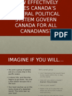 9 1 4 canadian federal political system
