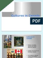 cultures in canada