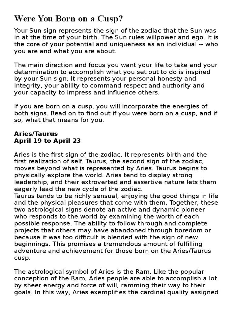 April 19 Zodiac Cusp