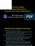 National Weather Service briefing Jan. 22, 2010