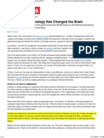 How Digital Technology Has Changed the Brain