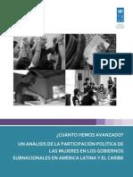 Estudio Participacion Politca Mujeres Ambito Subnacional