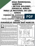 HOJITA EVANGELIO V DOMINGO TO B BN
