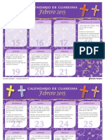 Sadlier Calendario Cuaresma 2015