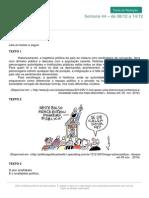 Corrupção e a Participação Do Cidadão Brasileiro Na Política