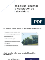 Sistemas Eólicos Pequeños Para Generación de Electricidad