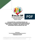 Evaluación de la satisfacción de las necesidades y las desigualdades habitacionales en el Distrito Federal y del impacto de los programas habitacionales del GDF