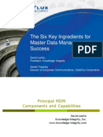 Six Key Ingredients for MDM Success