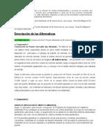 Descripcion de Las Alternativas 1 y 2
