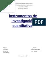 Instrumentos de Investigación Cuantitativa