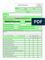 Formato  Informe Desempeño HSE