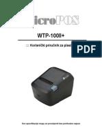 micropos WTP100+ user manual croatian