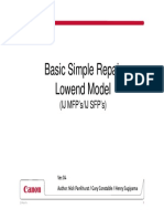 Basic Repair Low End Model SFP MFP