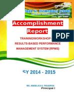 RPMS Accomplishment Report