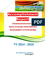 RPMS Accomplishment Report