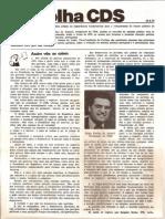 Folha CDS, nº 133 - 24 de Agosto de 1978