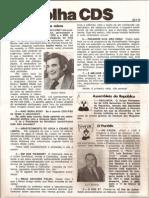 Folha CDS, nº 157- 22 de Fevereiro de 1979