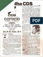 Folha CDS, nº 165- 3 de Maio de 1979