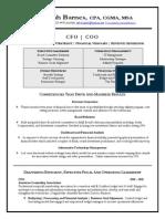 CFO CPA Nonprofit Association in Washington DC Resume Deborah Barnes