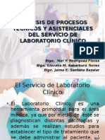 Análisis de Procesos Técnicos y Asistenciales Del Servicio