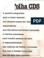 Folha CDS, nº 275 - 3 de Fevereiro de 1982