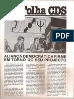 Folha CDS, nº 283 - 31 de Março de 1982