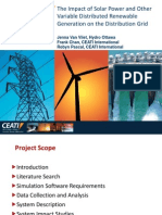 The Impact of Solar Power and Other Variable Distributed Renewable Generation on the Distribution Grid