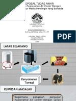 Analisa Evaporative Air Cooler   Dengan  Temperatur Media Pendingin Yang Berbeda