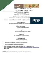 Menu - The Art of Local Food_2015_menu