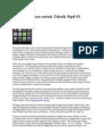 Aplikasi iPhone Untuk Teknik Sipil