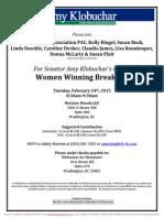 Women Winning Breakfast for Amy Klobuchar