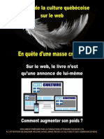 Le poids de la culture québécoise sur le web