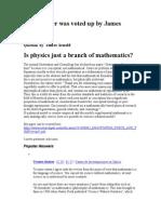Physics and Mathematics connection