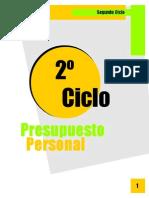 2do Ciclo - Presupuesto Personal