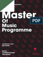 Handbook Master of Music 2014-2015 FINAL