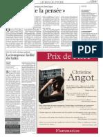 Le Mondes Des Livres - Michel Deguy (17 Nov 2006)