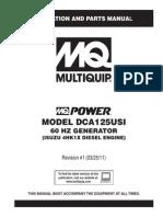 Generators Portable Ultrasilent DCA125USI Rev 1 60 Hz Manual DataId 19064 Version 1