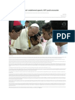 FULL TEXT - Pope Speech to UST Youth Encounter