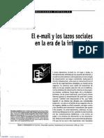 El E-mail y Los Lazos Sociales en La Era de La Información